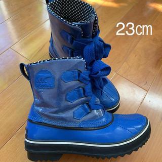 ソレル(SOREL)のソレル レインブーツ ブルー 23㎝ 箱無し(レインブーツ/長靴)