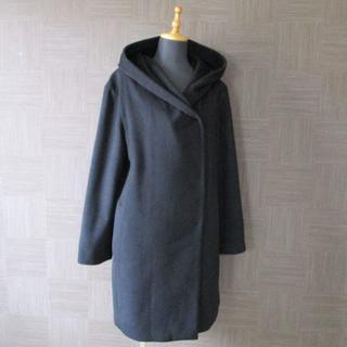 アナイ(ANAYI)のアナイ ANAYI カシミヤ混コート 36 黒 日本製(ロングコート)