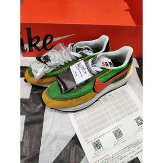 ナイキ(NIKE)の25CM Nike sacai LDWaffle GREEN(スニーカー)