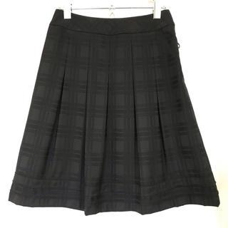 コムサイズム(COMME CA ISM)の【COMME CA MODELS】プリーツスカート 膝丈スカート フレアスカート(ひざ丈スカート)