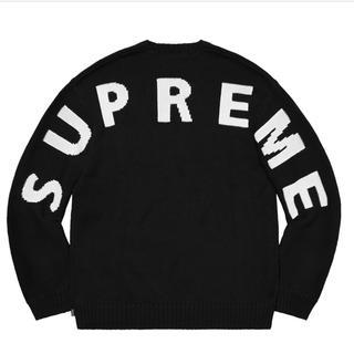 Supreme - [黒M] Supreme Back Logo Sweater
