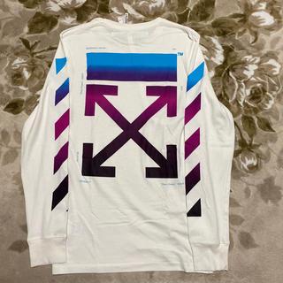 オフホワイト(OFF-WHITE)のoff-white off white gradient ロンt tシャツ xs(Tシャツ/カットソー(七分/長袖))