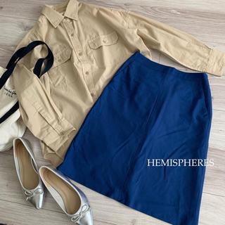 エミスフィール(HEMISPHERE)のエミスフィール✴︎薄手ウールの台形スカート♡(ひざ丈スカート)