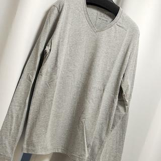 AZUL by moussy - AZUL ロンT メンズ S 長袖 新品 未使用 アズール Tシャツ グレー