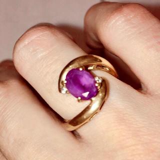 JEWELRY TSUTSUMI - K18 アメジストとダイヤモンドのリング