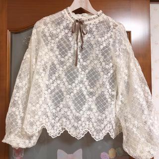 axes femme - axes♡新品♡シースルーパフ袖トップス♡