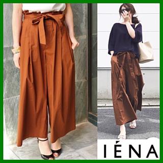 IENA - 【イエナ】美品 リボンベルト付き フレアーパンツ ワイドパンツ 36