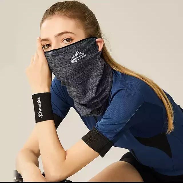 スポーツマスク グレー 花粉紫外線対策 男女兼用フリーサイズコロナウイルス対策 スポーツ/アウトドアのランニング(その他)の商品写真