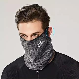 スポーツマスク グレー 花粉紫外線対策 男女兼用フリーサイズコロナウイルス対策
