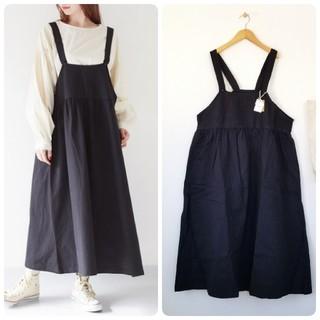 merlot - 春の新作*フィリル ジャンパースカート ブラック