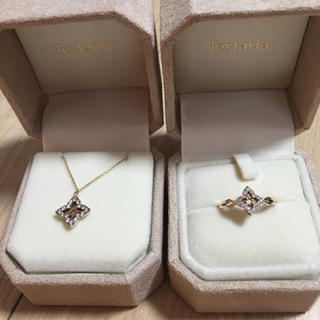 festarila K10 ダイアモンド ネックレス リング 9号 美品