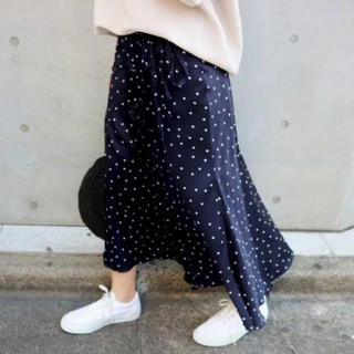 IENA - IENA ドットプリントスカート未使用