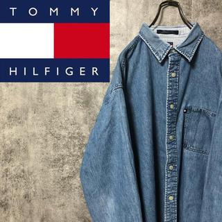 トミーヒルフィガー(TOMMY HILFIGER)の【激レア】トミージーンズ☆フラッグロゴタグ入りビッグデニムシャツ 90s(シャツ)