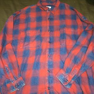 ZARA - Mサイズ ZARA オーバーサイズチェックシャツ フリンジ