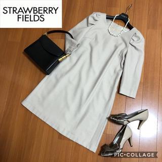 STRAWBERRY-FIELDS - 【美品】STRAWBERRY-FIELDS 上質な素材のワンピース 日本製