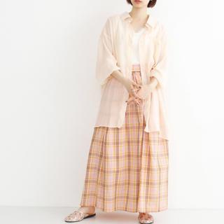 merlot - merlot チェック柄マキシスカート free