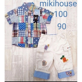 DOUBLE.B - 【mikihouse】シャツ パンツ セット 100 90