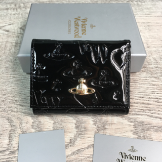 Vivienne Westwood - Vivienne Westwood◆ ミニ財布 エナメル 三つ折り財布 ブラック