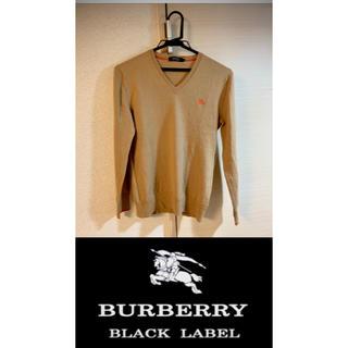 バーバリーブラックレーベル(BURBERRY BLACK LABEL)のバーバリーブラックレーベル vネックニット(ニット/セーター)