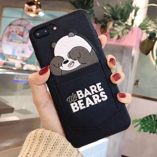 BARE BEARS ベアベアーズ ポケット付き iPhoneケース パンダ