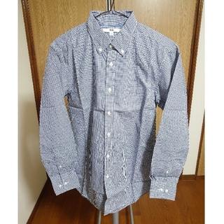 UNIQLO - ユニクロ エクストラファインコットンブロードチェックシャツ ネイビー Sサイズ