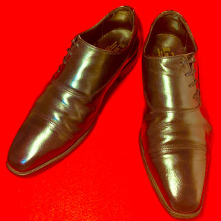 ★SCOTCH GRAIN★ ストレートチップ ブラック 25.5㎝ 革靴(ドレス/ビジネス)