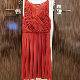 ストロベリーフィールズ(STRAWBERRY-FIELDS)のワンピース ドレス 赤(ひざ丈ワンピース)