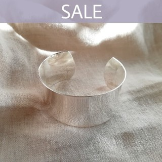 TODAYFUL - 【 NEW 】silver wide bangle  *