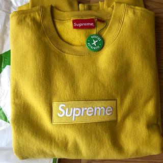 シュプリーム(Supreme)のSupreme Box Logo Crewneck Mustard シュプリーム(スウェット)