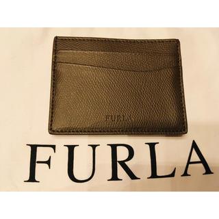 フルラ(Furla)の新品 未使用 フルラ 布袋 カード付 革製 カードケース 裏側ホック付き (名刺入れ/定期入れ)