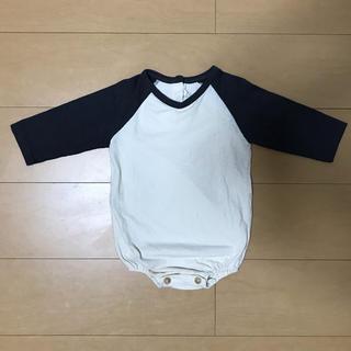 ラグランロンパース 70 韓国子供服