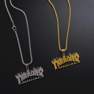 スラッシャー(THRASHER)のTHRASHER スラッシャー ファイヤー ネックレス 最安値(ネックレス)