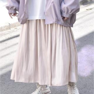 w closet - w closet シャイニーサテン リバーシブルスカート新品
