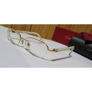 Cartier - 正規 ガクト着 同型 カルティエ Cデコール ロゴ シェルフレーム眼鏡 ゴールド