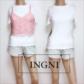 INGNI - INGNI リブトップス レースキャミ ビスチェ♡セシルマクビー SET お得♡