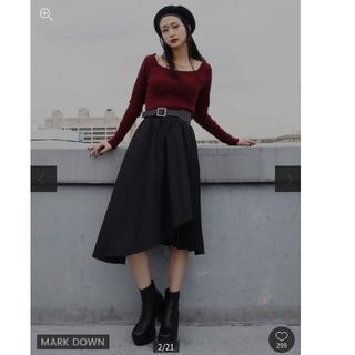 SLY - ミディプリーツフレアスカート