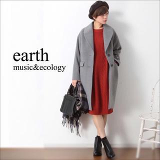 アースミュージックアンドエコロジー(earth music & ecology)のearth music & ecology ケーブルニット ワンピース♡ザラ(ひざ丈ワンピース)