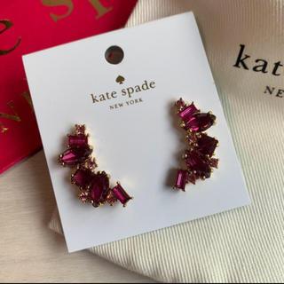ケイトスペードニューヨーク(kate spade new york)の新品!ケイトスペード(kate spade)ピアス ビジュー ピンク系(ピアス)