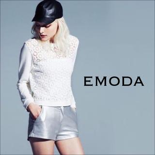 エモダ(EMODA)のEMODA レースBODYラフジャージTOP トレーナー スウェット MURUA(トレーナー/スウェット)