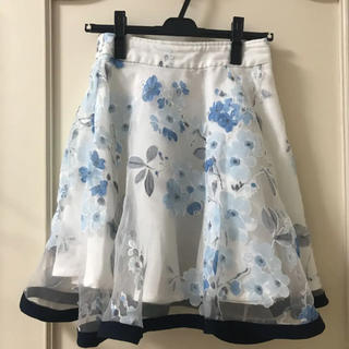 MISCH MASCH - アラマンダ 膝丈スカート 花柄 オーガンジー ダズリン トッコ