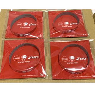 アシックス(asics)のアシックス リストバンド 4個 コカコーラ 東京オリンピック(バングル/リストバンド)
