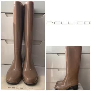 PELLICO - ペリーコ  キャラメルブラウン  エナメル レインブーツ