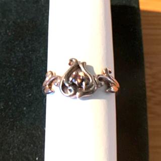 シルバー 925  天然石 落ち着いたピンク リング(リング(指輪))