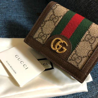 Gucci - 本日限定値下げ グッチ Gucci GG カードケース(コイン&紙幣入れ付き)