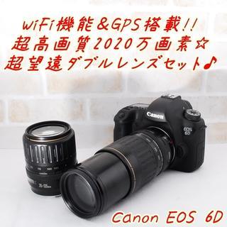 キヤノン(Canon)の★ Canon EOS 6D 標準&望遠ダブルレンズキット ★(ミラーレス一眼)