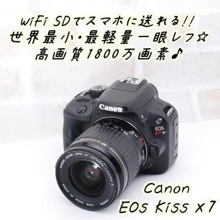 Canon - ★ 極上美品 WiFi転送OK! キヤノン  Kiss X7 レンズセット ★
