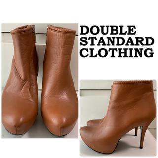DOUBLE STANDARD CLOTHING - ダブルスタンダードクロージング ブラウンレザー   ショートブーツ