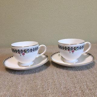 ウェッジウッド(WEDGWOOD)の新品未使用 ウェッジウッド コーヒーカップ&ソーサ1客値下げ不可(食器)