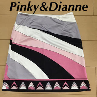 Pinky&Dianne - 美品♡ピンキーアンドダイアン ミニスカート 幾何学模様スカート