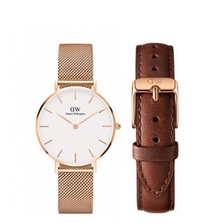 Daniel Wellington - 【32㎜】ダニエル ウェリントン腕時計 DW163+ベルトSET《3年保証付》